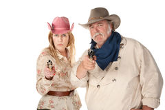 Western Wear Couple Stock Photography