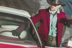 Western Wear Cowboy Driver Stock Images