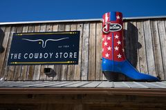 Western wear store in Banderas Texas Stock Photos