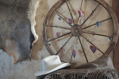 Western weel and hat Royalty Free Stock Photography