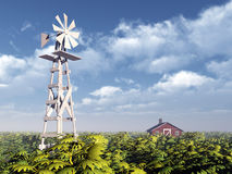Western Windmill Royalty Free Stock Images