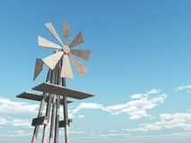 Western Windmill Stock Images
