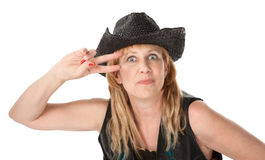 Western woman Stock Photography