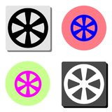 Western wooden wheel. flat vector icon vector illustration