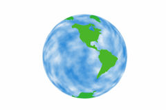 The western world globe Royalty Free Stock Images