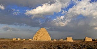 Western Xia imperial tombs stock photo