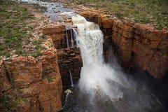 Westernmost bliźniak Spada na królewiątka George rzece, Kimberley, Australia Zdjęcia Royalty Free