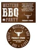 Westernu BBQ przyjęcia zaproszenie Zdjęcie Royalty Free