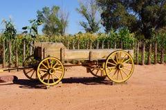 Westernu Buckboard Pionierski furgon obrazy royalty free