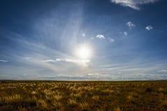 Westernu krajobraz na obszarach trawiastych Kolorado Zdjęcie Stock