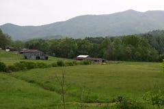 Westernu NC kraju góry wiejski gospodarstwo rolne Obraz Royalty Free