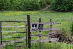 Westernu NC wiejskiego kraju rolny pole Fotografia Royalty Free