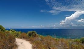 Westernu wybrzeże Corsica wyspa Obrazy Stock