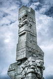 Westerplatte Monument in memory of the Polish defenders Royalty Free Stock Images