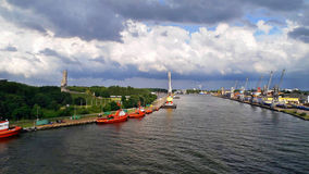 Westerplatte. In the port of Gdansk Royalty Free Stock Image
