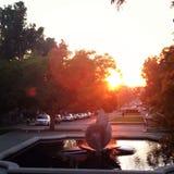 Westerse zonsondergang Royalty-vrije Stock Afbeelding