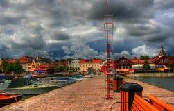Westervik在瑞典 免版税库存图片