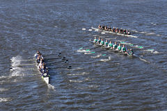 Westerville a laissé à baie est Rowingcenter Rye les courses élevées de Schoolright dans la tête de la jeunesse Eights du ` s de  Images stock