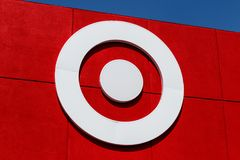 Westfield - Circa August 2018: Target Retail Store. Target Sells Home Goods, Clothing and Electronics V. Target Retail Store. Target Sells Home Goods, Clothing royalty free stock photo