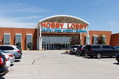 Westfield - Circa June 2018: Hobby Lobby Retail Location. Hobby Lobby is a Privately Owned Christian Principled Company II. Hobby Lobby Retail Location. Hobby stock photo