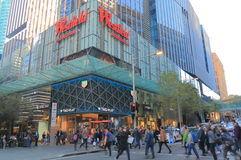 Westfield department store shopping Sydney Australia. People visit Westfield department store in Sydney Australia. Westfield is an Australian shopping centre Stock Photos