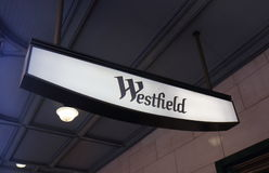 Westfield department store shopping Sydney Australia. Westfield department store sign in Sydney Australia. Westfield is an Australian shopping centre company Royalty Free Stock Images
