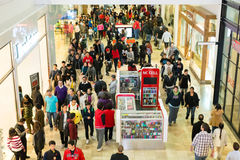 Westfield Mall on Black Friday. People shopping at a Westfield Mall on Black Friday. Photo taken on: November 27th, 2014 Stock Images