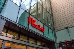 Westfield Shopping Centre in London. 6th August 2014, London, UK.  Royalty Free Stock Image