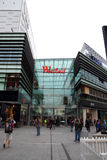 Westfield shopping city. The iconic giant Westfield Shopping City at Stratford next to the Olympic park. Picture is good for shopping and retail use Royalty Free Stock Photo