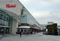 Westfield shoppingmitt London Royaltyfri Fotografi
