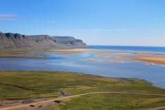 Westfjords royaltyfri foto