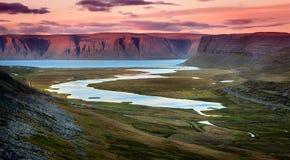 Westfjords fotografie stock