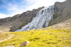 Westfjords - Dynjandi waterfall, Iceland Royalty Free Stock Image