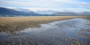 Westfjords plaża Fotografia Stock