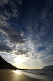 Westfjords plaży zmierzch Fotografia Royalty Free