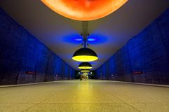 Westfriedhof subway station in Munich Stock Image