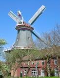 Westgaster Muehle, moinho de vento, Norden, Frisia do leste, Alemanha Foto de Stock Royalty Free