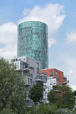 Westhafen Tower and private apartments in Frankfurt, Germany Royalty Free Stock Images