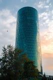 Westhafen wierza w schronienie terenie Frankfurt, Niemcy Obraz Royalty Free