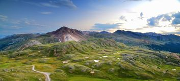 Westhang von Colorado bei 13.000 Fuß stockbild