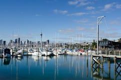 Westhaven小游艇船坞-奥克兰 库存图片
