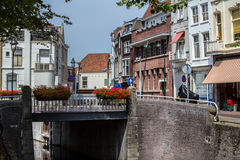 Westhaven canal, Gouda, Netherlands. Westhaven canal in the city of Gouda, Netherlands Stock Image