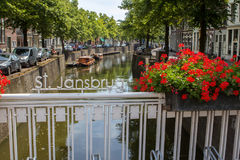 Westhaven canal, Gouda, Netherlands. Westhaven canal in the city of Gouda, Netherlands Royalty Free Stock Photography