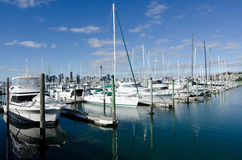 Westhaven Marina - Auckland. AUCKLAND, NZ - JUNE 02:Boats mooring in Westhaven Marina on June 02 2013.It's owned by Auckland Council, as successor to the Stock Photography