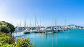 Westhaven Marina is the largest yacht marina in Auckland,New Zealand. Auckland,New Zealand - October 25,2015 : Westhaven Marina is the largest yacht marina in Royalty Free Stock Photo