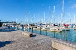 Westhaven Marina is the largest yacht marina in Auckland,New Zealand. Auckland,New Zealand - October 25,2015 : Westhaven Marina is the largest yacht marina in Royalty Free Stock Photos