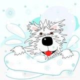 Westie w śniegu ilustracja wektor
