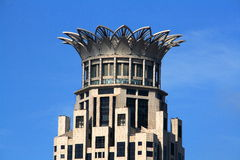 Westin Hotel in Shanghai. Is one of landmarks in Puxi, Shanghai, with special design of roof like lotus Royalty Free Stock Image