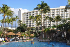 Westin Kaanapali in Maui, Hawaii. (USA). The Westin is a luxury hotel and time share condominium resort at Kaanapali in Maui, Hawaii Stock Photography