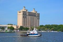 Westin Savannah Harbor Golf Resort y balneario Imagenes de archivo
